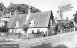 Eye, Thatched Cottage And Church c.1960