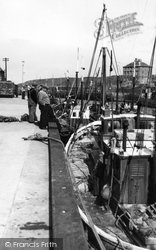 Fishing Boats At The Quayside c.1960, Eyemouth