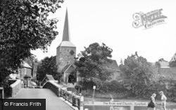 Eynsford, The Darent And St Martin's Church c.1955