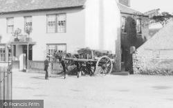 Eynsham, Brewers Dray, Red Lion Hotel c.1880