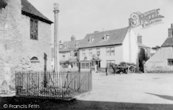 Eynsham, Old Cross And Red Lion Hotel c.1880
