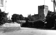 Eythorne, Church Hill And The Church Of St Peter And St Paul c.1955