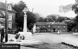Eythorne, The Memorial And New Roundabout c.1955
