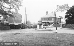 Eythorne, The Memorial And Post Office c.1955