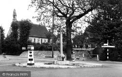 Fair Oak, War Memorial And St Thomas's Church c.1955