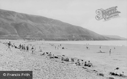 Fairbourne, The Beach, Looking Towards Llwyngwril c.1955