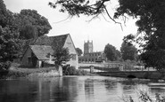 Fairford, the Church and Mill c1950