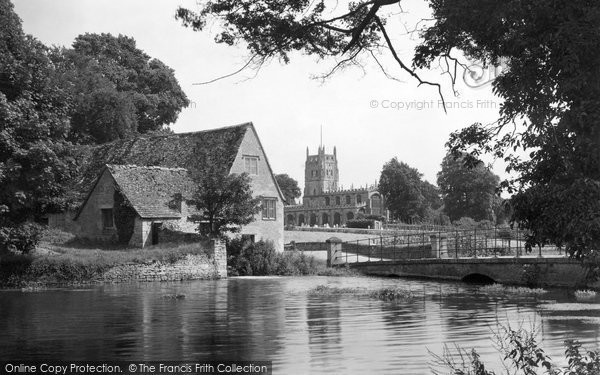 Fairford,the Church and Mill c1955,Gloucestershire