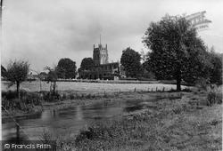 Fairford, St Mary's Church From The Meadows c.1950