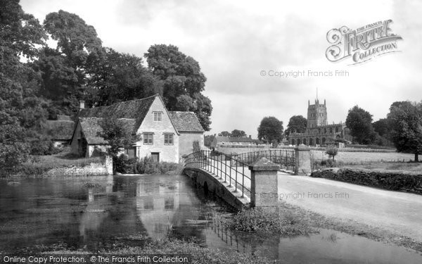 Fairford, the Mill and Bridge c1950