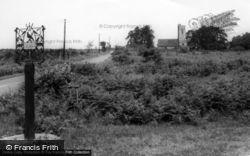 The Village Sign And Christ Church c.1955, Fairwarp
