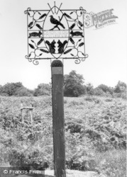 Fairwarp, The Village Sign c.1955