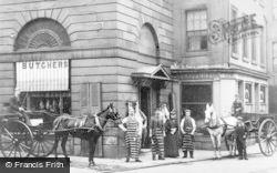 Falkirk, Butchers Shop, The Steeple c.1900
