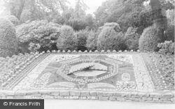 Falkirk, The Floral Clock, Dollar Park c.1965