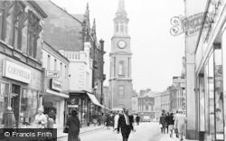 Falkirk, The High Street And Steeple c.1965