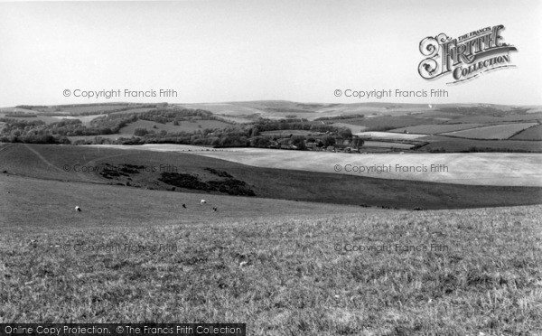 Photo of Falmer, From The Downs c.1960