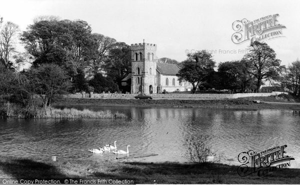 Photo of Falmer, St Lawrence Church And Village Pond c.1965