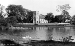 Falmer, St Lawrence Church And Village Pond c.1965