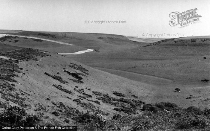 Photo of Falmer, View From The Downs Above c.1960