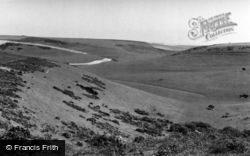 Falmer, View From The Downs Above c.1960