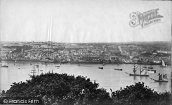 Falmouth, From Trefusis c.1876