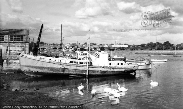 Photo of Fareham, The River c.1960