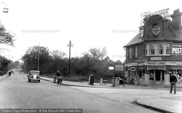 Farnborough, Farnborough Road, Pinehurst Corner c1955.  (Neg. F9034)  © Copyright The Francis Frith Collection 2007. http://www.francisfrith.com