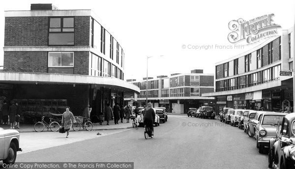 Farnborough, Queensmead Shopping Centre c1965.  (Neg. F9153)  © Copyright The Francis Frith Collection 2007. http://www.francisfrith.com