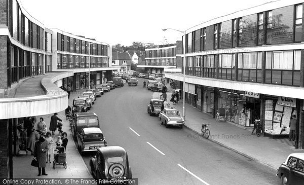Farnborough, Queensmead Shopping Centre c1965.  (Neg. F9155)  © Copyright The Francis Frith Collection 2007. http://www.francisfrith.com