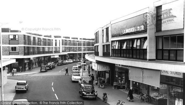 Farnborough, Queensmead Shopping Centre c1965.  (Neg. F9156)  © Copyright The Francis Frith Collection 2007. http://www.francisfrith.com