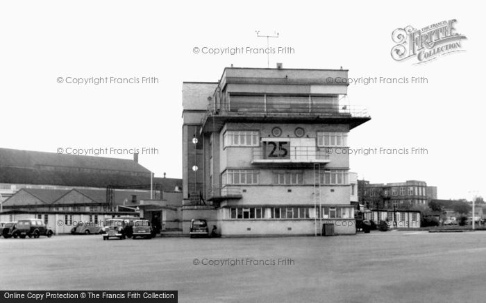 Farnborough, RAE Flying Control Tower c1955.  (Neg. F9083)  © Copyright The Francis Frith Collection 2007. http://www.francisfrith.com