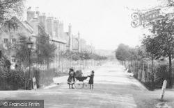 Farnborough, Redvers Buller Road, Girls And Peranbulator 1905