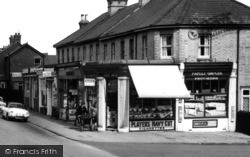 Farnborough, Shops In Peabody Road c.1965