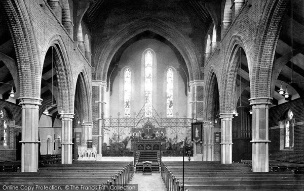 Farnborough, St Mark's Church, Interior 1913.  (Neg. 65200)  © Copyright The Francis Frith Collection 2007. http://www.francisfrith.com