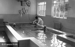 Farnham Royal, Slough Industrial Heath Services Recuperative Home Swimming Pool c.1955