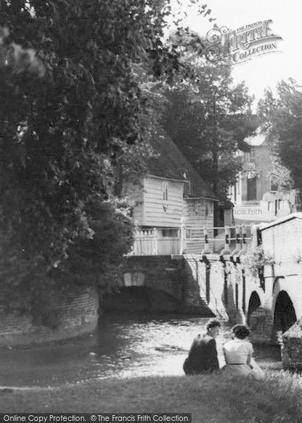 Photo of Farningham, The Bridge c.1955