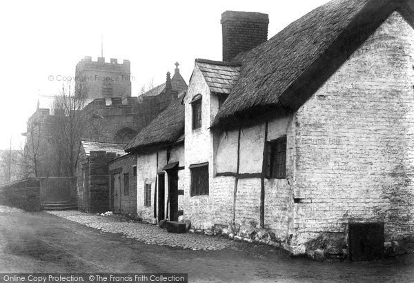 Farnworth, the Church and Cottage 1900