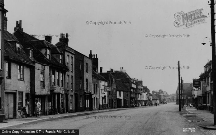 Photo of Faversham, Abbey Street c.1955