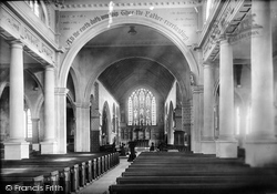 Faversham, Church Of St Mary Of Charity, Interior 1892