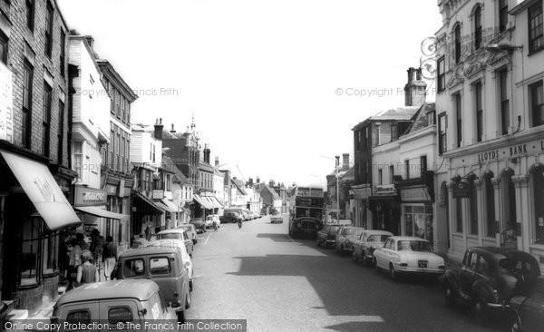Photo of Faversham, Court Street c.1965