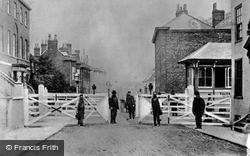 Faversham, Level Crossing, Preston Street c.1895