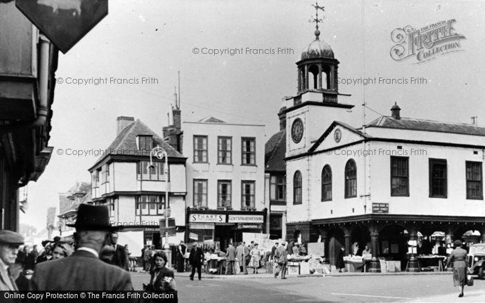 Photo of Faversham, Market Place c.1955