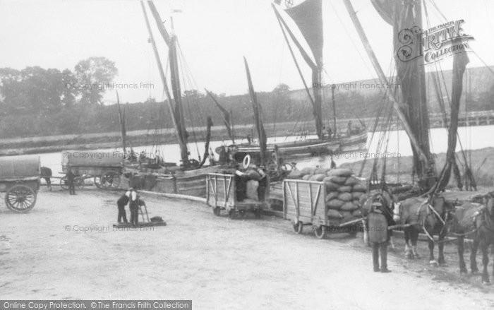 Photo of Faversham, Powder Barges, Oare Creek c.1925