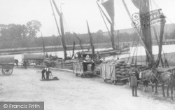 Faversham, Powder Barges, Oare Creek c.1925