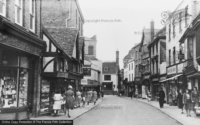 Photo of Faversham, Preston Street c.1955