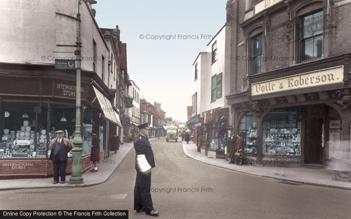 Photo of Faversham, Preston Street c.1955
