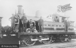 Faversham, Steam Train c.1910