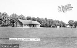 Faversham, The Recreation Ground c.1960