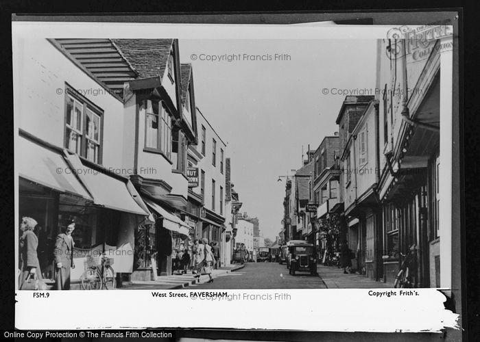 Photo of Faversham, West Street c.1955