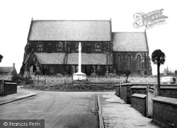 Purston Church And War Memorial c.1950, Featherstone